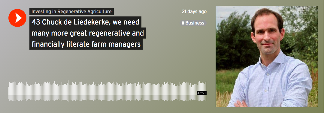 Investing in Regenerative Agriculture Podcast - Regeneration Newsroom